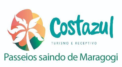 passeios em alagoas maceio maragogi Logo Costazul Turismo e Receptivo Passeios Saindo de Maragogi